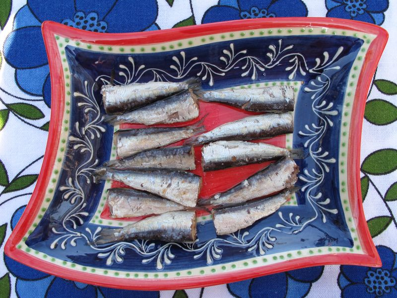 sardines, sardinillas as a main course or appetizer