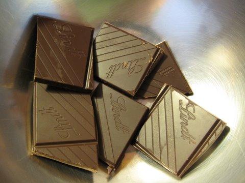 dark chocolate ready for melting
