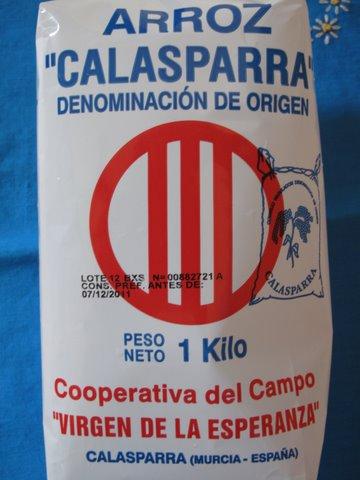 a bag of Calasparra rice