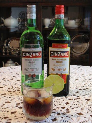 Cinzano vermouth as an aperitif