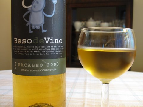 Beso de Vino: a white wine from Cariñena