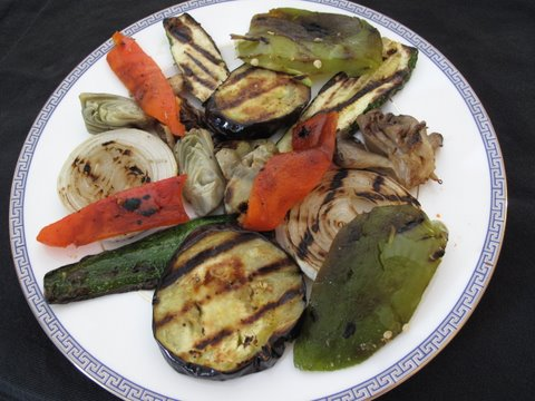 Spanish-style grilled vegetables