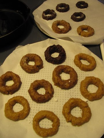 dough shaped into rosquillas and ready for baking