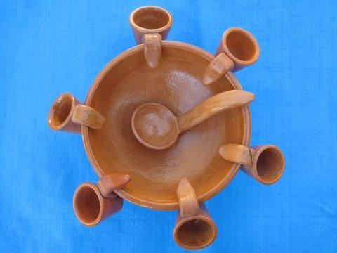 a queimada de barro (Galician punch bowl made of fire glazed clay