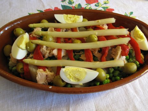 A Spanish Russian Salad, ensaladilla rusa