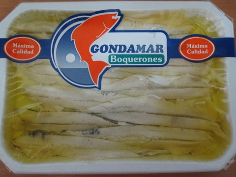 a pack of boquerones (pickled anchovies)