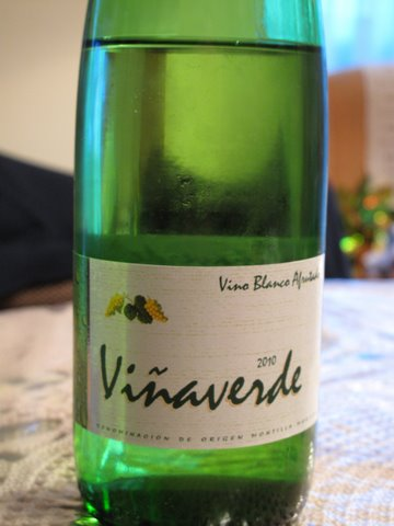 Viñaverde, a young white wine from Montilla-Moriles