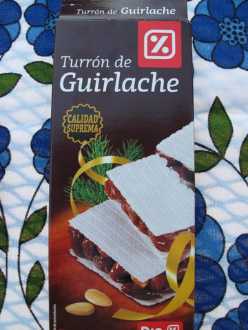 a supermarket brand of turrón de guirlache