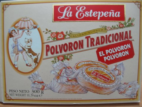 a box of traditional Spanish Christmas Cookies, polvorones