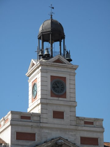 The clock in the Puerta del Sol
