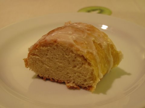 a piece of my homemade roscón de Reyes
