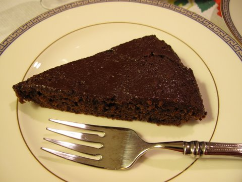 A Spanish English style chocolate cake tarta de chocolate a la