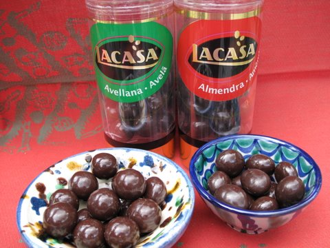 chocolate covered hazelnuts and almonds (divinos)