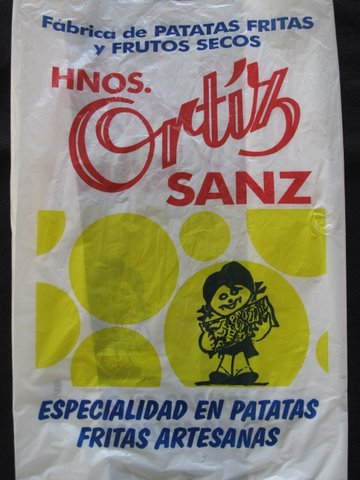 a bag from the neighborhood tienda de frutos secos