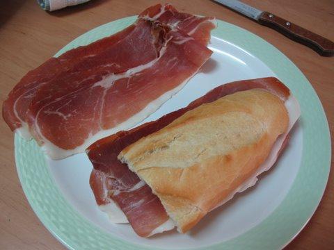 Simple spanish subs 1 bocadillo de jamn simple spanish food a bocadillo de jamn a spanish serrano ham sandwich forumfinder Choice Image