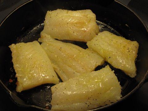 pan searing cod