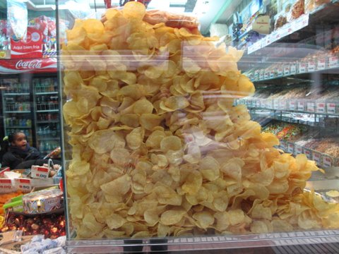 potato chips at a fábrica de patatas fritas