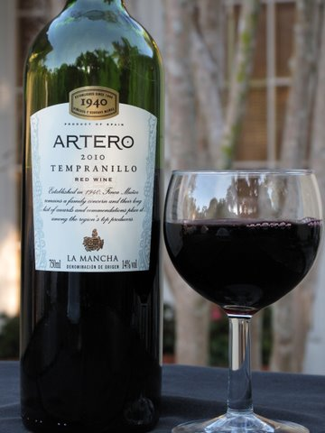 Artero 2010 Tempranillo from  La Mancha