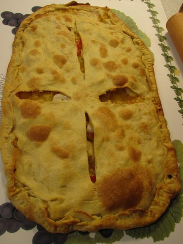 a fresh baked empanada