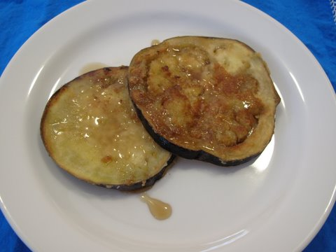 "berenjena frita con miel de caña, fried eggplant with ""cane honey"""