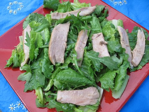 salad with fatty tuna