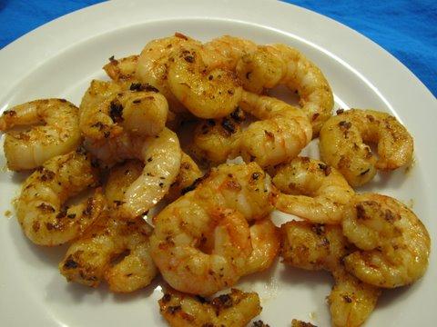 pan fried shrimp with garlic