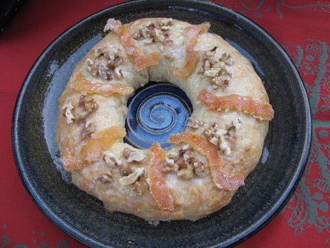 a homemade roscón de Reyes