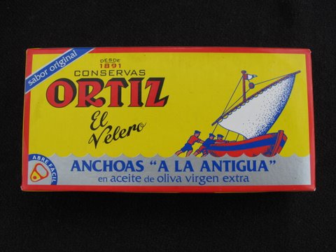 "Ortiz el velero anchoas ""a la antigua"""